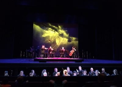 "Performing Terry Riley's ""Sun Rings"" with Kronos Quartet, Cal Performances, Zellerbach Hall, Berkeley, 2016"
