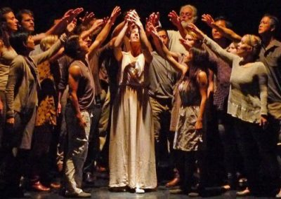 """""""Pandora's Gift"""" by Mark Winges, Volti singers, staging by Erika Chong Shuch, May 2015"""